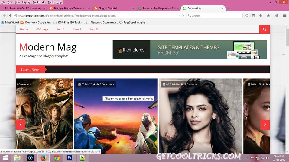 Giving a professional look to your blogger blog - Get Cool Tricks