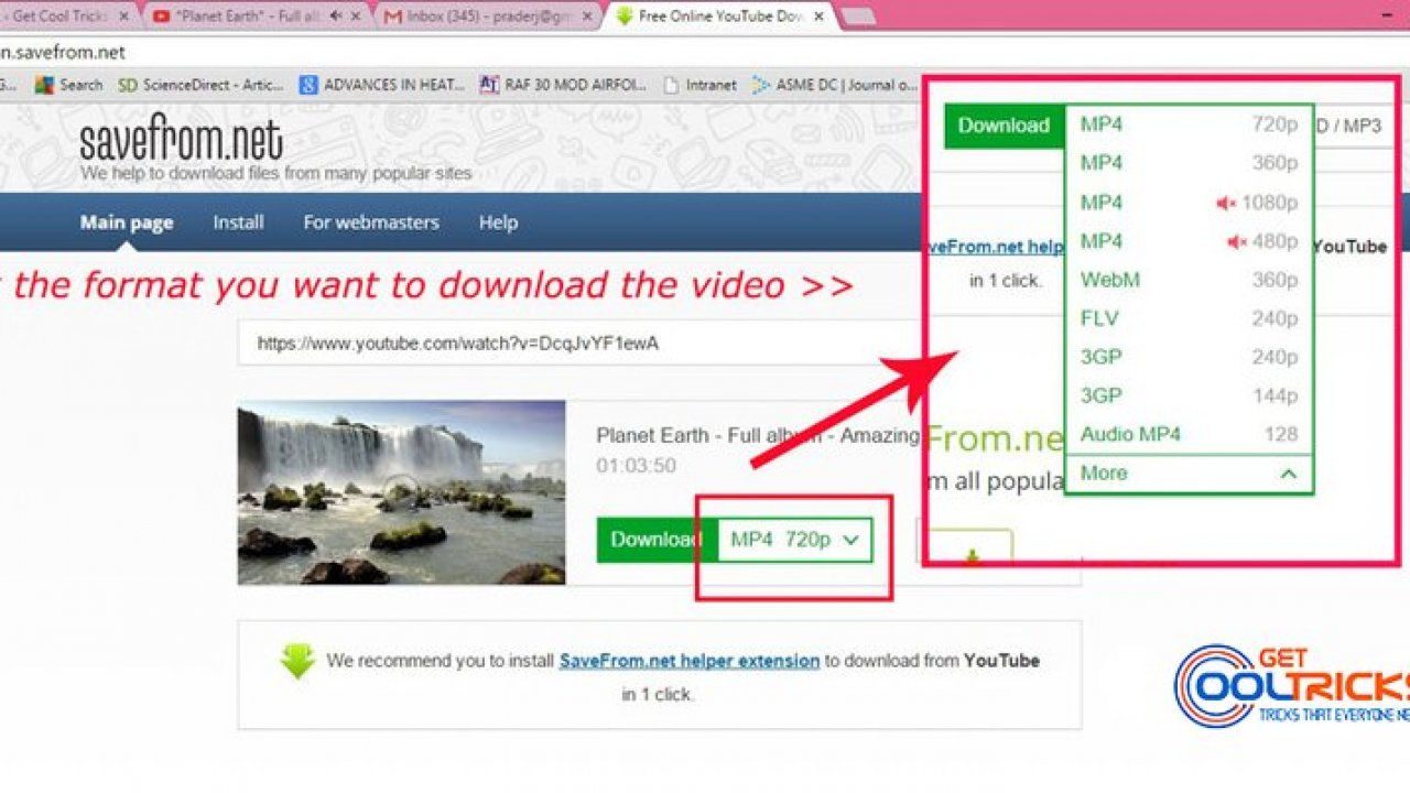 How to Download YouTube videos on any Browser - Get Cool Tricks
