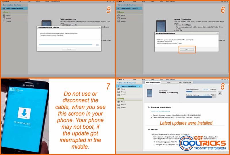 Upgrade using Samsung Kies GetCoolTricks 2