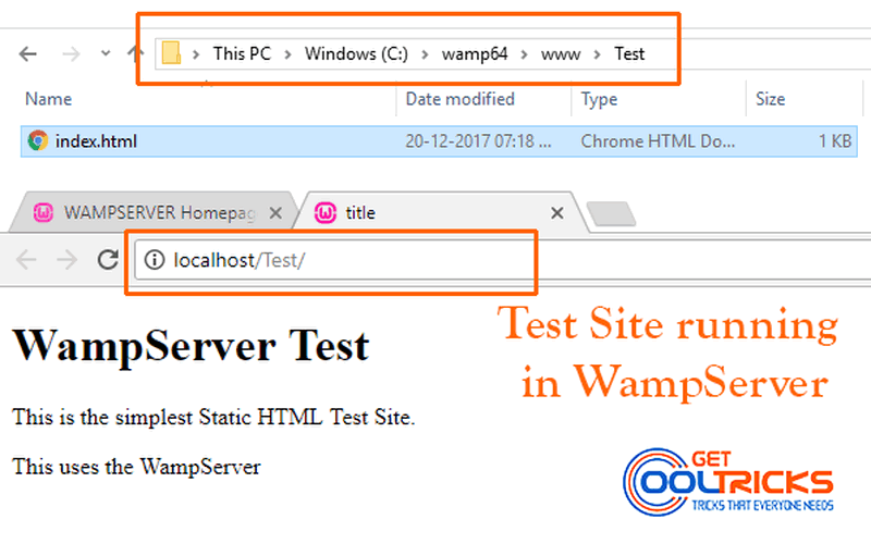 Run a web server on your computer using WampServer (WAMP) - Get Cool