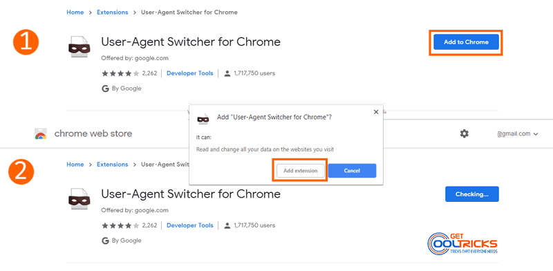 Add User Agent Switcher to Google Chrome to Download Windows 10 ISO